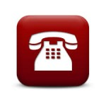 Telephone Icon Red Button
