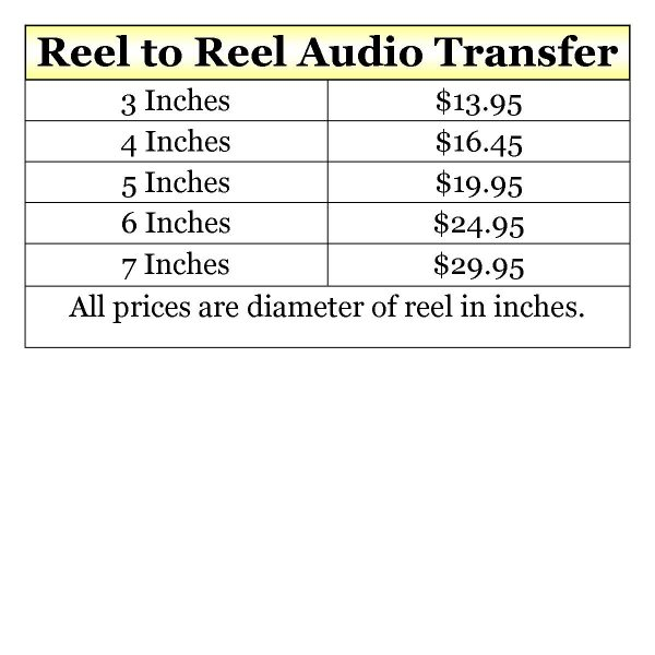 reel to reel prices